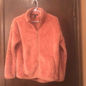 Forever 21 Dusty Rose Faux Fur Jacket